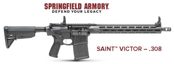 "Springfield SAINT VICTOR AR-15/10, 308 Winchester, 16"" Lightweight Profile Barrel, 1:10"" Twist, Black Finish, BCM 6-Position Stock, BCM Mod.3 Grip, 1 Mag, 20+1 Round, 15"" MLOK Rail, Front/Rear Flip Sights 💲💲Cash $1269.95💲💲"