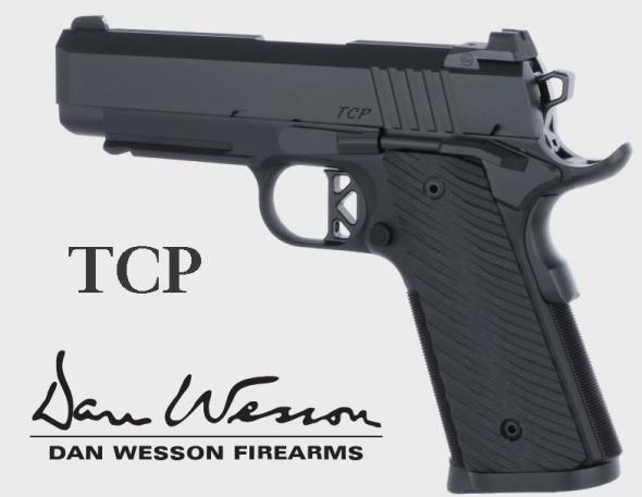 "CZ-USA, Dan Wesson TCP, Semi-Auto, 45 ACP, 4"" Barrel, 8+1 Round, G-10 Grips, Black Duty Finish 💲💲Cash $💲💲"