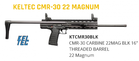 "Kel-Tec, CMR-30, Carbine, Semi-automatic, 22WMR, 16"" Barrel, Black Finish, Synthetic Stock, 30Rd 💲💲Cash $479.95💲💲"