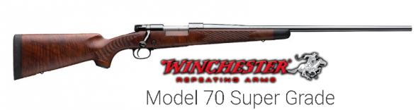 "Winchester Model 70 Super Grade Bolt Action Rifle .308 Win 22"" Barrel 5 Rounds Grade IV/V Walnut Stock Blued 535203220"