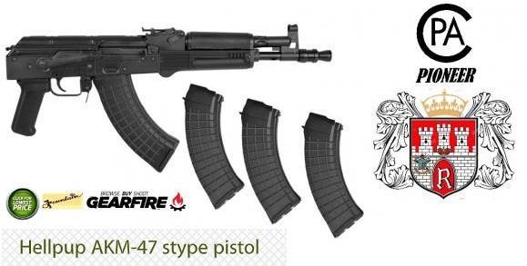 "Super Awesome!!! I.O. Inc. Hellpup AK47 DRACO Pistol Type. 7.62X39 9"" Steel Black 30Rd Polish 💲💲Cash $579.95💲💲"