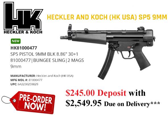 SP5 9mm Pistol 2 / 30 Rnd
