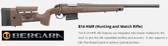 "Bergara Rifles B14S351 B-14 HMR Bolt 308 Winchester/7.62 NATO 20"" 5+1 Synthetic Brown Stk Blued 💲💲Cash $949.95💲💲"