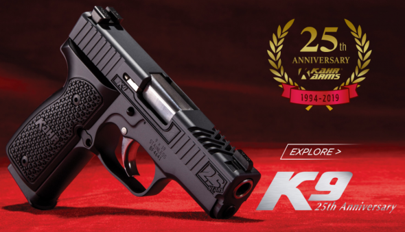 """Extra Nice!!! Kahr Arms, K9 25th Anniversary, Double Action Only, 9MM, 3.5"""" Barrel, 7+1 Round, TruGlo Night Sights, Hogue Aluminum Grips W/ Custom Engraving 💲💲Cash $1299.95💲💲"""