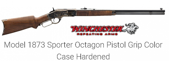 Awesome!!! Winchester 73 1873 DELUXE SPORTER PISTOL GRIP MODEL WITH CASE HARDENED RECEIVER, OCTAGON BARREL AND PISTOL GRIP STOCK 💲💲Cash $1595.00💲💲