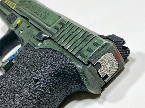 Star Wars Mandalorian Engraved Glock 42 Back Plate Slide Plate