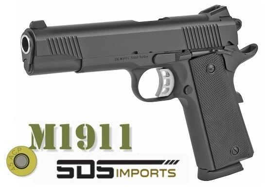 "Hot 2020!!! SDS Imports, 1911-B, Semi-Automatic, 45 ACP, 5"" Barrel, Steel Frame, Black Cerakote Finish, Novak Style 3-Dot Sights, 8Rd 💲💲Cash $439.95💲💲"