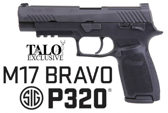 "US Military Choice!!! Sig Sauer, P320 M17 Bravo TALO Limited Exclusive Edition, 9MM, 4.7"" Barrel, 17+1 Round, Black Nitron Finish 💲💲Cash $629.95 💲💲"