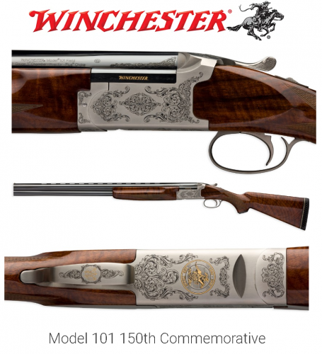 USR Model 101 150th Commemorative Shotgun 12 Gauge 28 Inch Field Barrel American Walnut Stock Gloss Finish