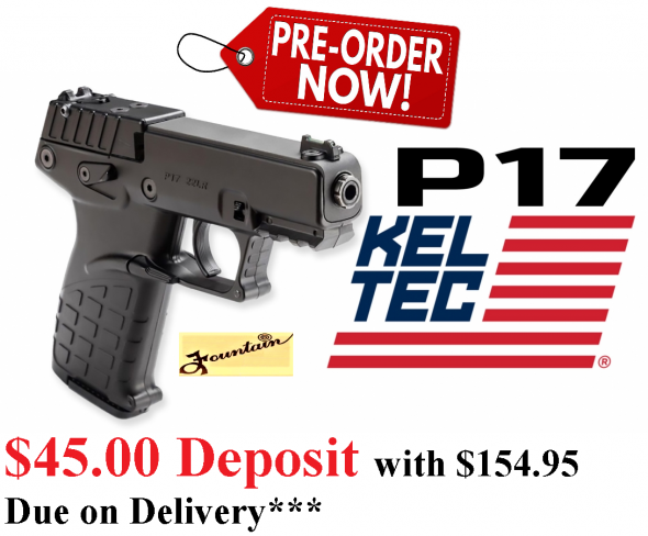 PO DEPOSIT ONLY: KEL TAC P17 22LR 17RD BLACK - New for 2020!!!