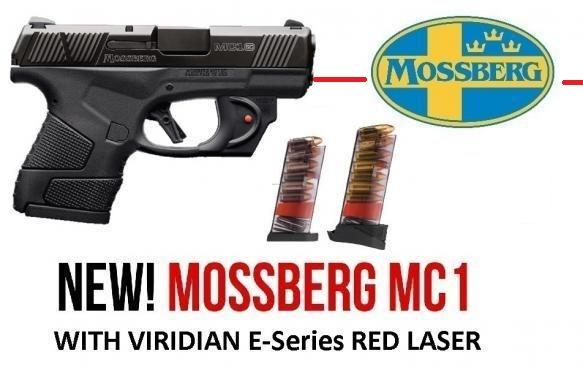 """NEW 2020!!! MOSSBERG MC1 9MM 3.4"""" BARREL SUB COMPACT WITH VIRIDIAN E-Series RED LASER 6 & 7 ROUND MAGS 💲💲Cash $369.95💲💲"""