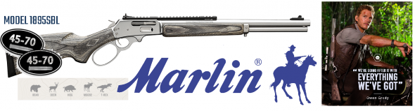 Always Hot!!! MARLIN 1895 SBL (Jurassic Style) LARGE LOOP .45-70 GOVERNMENT WITH 18.5 INCH STAINLESS STEEL BARREL LAMINATED STOCK XS GHOST RING SIGHT SYSTEM AND XS RAIL 5 ROUNDS 💲💲Cash $1099.95💲💲