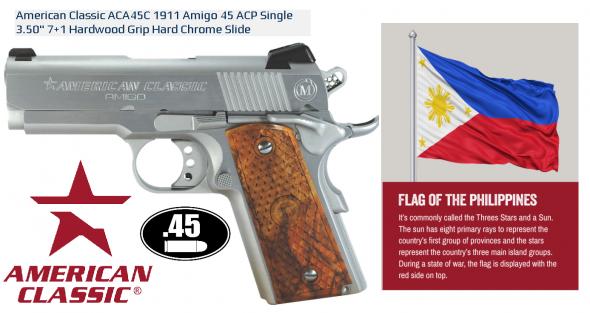 "American Classic 1911 ""Amigo Officer's"" 45ACP Hard Chrome finish 7 rounds 💲💲Cash $699.95💲💲"