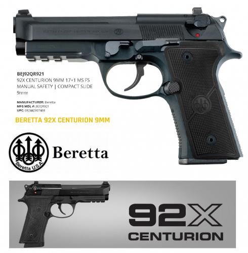 "Super Hot 2020!!!  Beretta 92X G CENTURION 9MM 17RD ""THE EVOLUTION OF THE 90 SERIES FAMILY"" 💲💲Cash $759.95 💲💲"