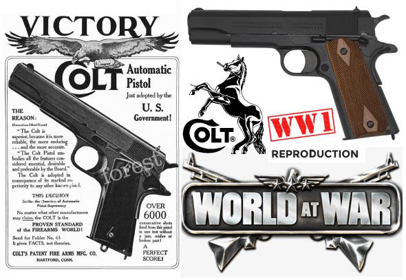 """SUPER COLLECTIBLE!!! WWI RETRO COLT GOVERNMENT 1911 (PRE-A1) """"BLACK ARMY"""" 45ACP 💲💲Cash $998.95 💲💲"""