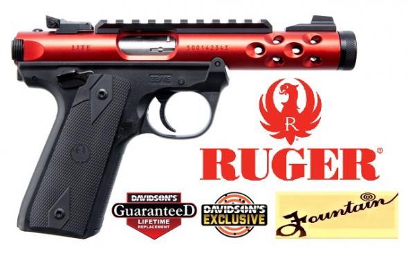 "Ruger Mark IV (Diablo Red) 22 Long Rifle (LR) 4.4"" 10+1 Black Polymer Grip Red Anodized 💲💲Cash $499.95💲💲"