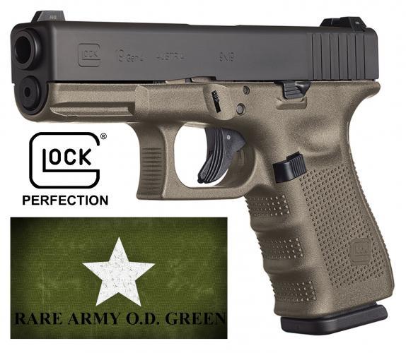 Rarer!!! GLOCK OD Green Gen4 Glock 19 9mm 4 Inch Barrel Tenifer Finish Fixed Sights 15 Round 💲💲Cash $599.95💲💲