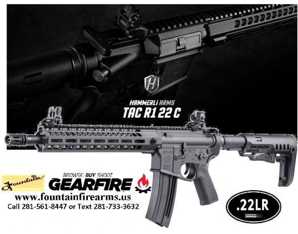 """Walther, Tac R1, Semi-automatic, AR, 22 LR, 16.1"""" Threaded Barrel, Black Finish, MFT Minimalist Stock, M-LOK Handguard, Front/Rear Flip Sights, 20+1 Round 💲💲Cash $369.95💲💲"""