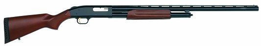 "Mossberg 500 Pump 12 Gauge 28"" Barrel 3"" Chamber Wood Blue Finish"