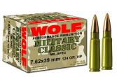Wolf MC918FMJ Military 9mmX18mm Makarov Full Metal Jacket 95 GR 1000Rds