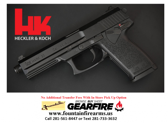 fountain firearms is houston s best online gun retailer mega hard to find heckler koch hk mark 23 socom us military special operations pistol semi automatic pistol 45 acp 5 87 threaded barrel 12