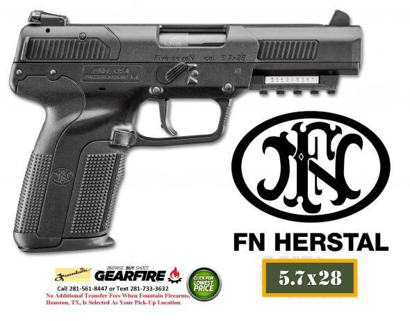 FNH Five-Seven Mark II 5.7x28mm 4.8 Inch Barrel Adjustable 3-Dot Sights Black 20 Round💲💲Cash $1294.95💲💲