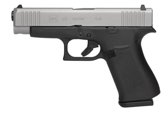 Glock, G48 GNS, Safe Action, 9MM, 4.17' Barrel, 10+1 Round, Black Polymer Frame, Silver Finish 💲💲Cash $585.95💲💲
