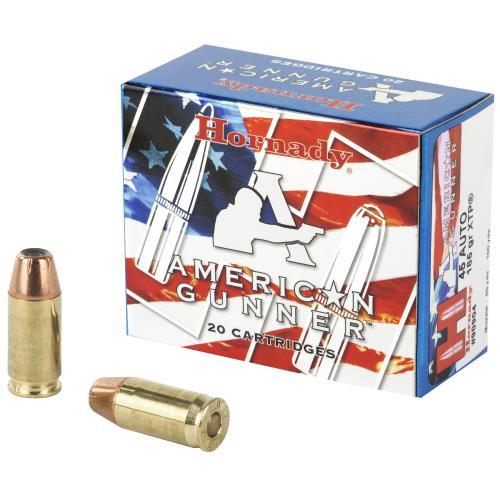 Hornady, American Gunner, 45 ACP, 185 Grain, XTP, 20 Round Box