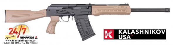 Kalashnikov USA KS-12 Semi Auto Shotgun 12 Gauge 18.25' Barrel 3' Chamber 5 Rounds Fixed Sights FDE Polymer Furniture Matte Black 💲💲Cash $1,029.95💲💲