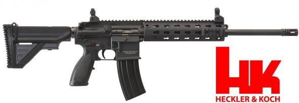 HK, MR556, Semi-automatic Rifle, 223Rem/556NATO, 16.5' Barrel, Black Finish, 6 Position Collapsible Stock, 30 Rounds, 1 Magazine, 9' Modular Rail System 💲💲Cash $3299.95💲💲