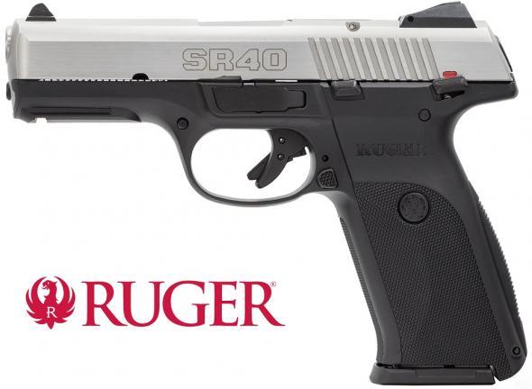 Ruger SR40 Semi Automatic Handgun .40 S&W 4.14' Barrel 15 Rounds Black Glass Filled Nylon Frame Stainless Steel Slide 💲💲Cash $469.95💲💲