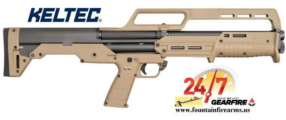 Kel-Tec, KS7, Pump Action Shotgun, 12 Gauge, 3' Chamber, 18.5' Barrel, Tan Finish, Synthetic Stock, 6 Round 💲💲Cash $659.95💲💲