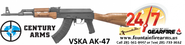 Century Arms, VSKA, Semi-automatic Rifle, 7.62X39, 16.25' Chrome Moly Barrel, Matte Blued Finish, Wood Stock, 1 Magazine, 30 Round 💲💲Cash $879.95💲💲
