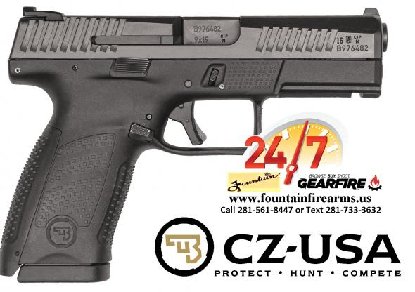 CZ 75 P-10 Compact, Striker Fired, 9MM, 4' Barrel, Polymer Frame, Black Finish, 3-Dot Sights, 10Rd 💲💲Cash $499.95💲💲
