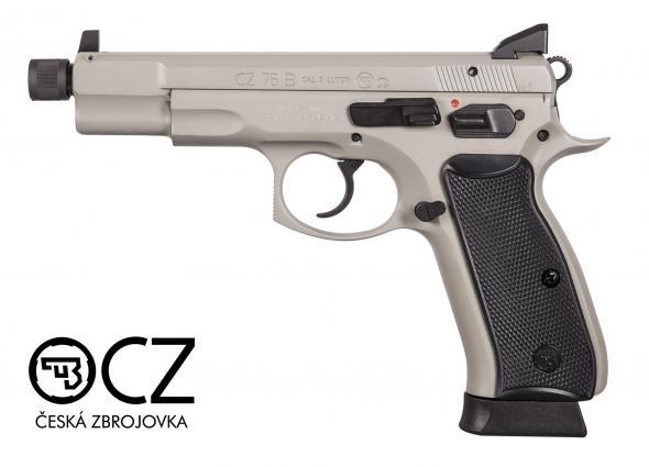 CZU CZ 75 B Omega Suppressor Ready 9mm 5.2 Inch Threaded Barrel Urban Grey Finish High Tritium 3-Dot Sights Decocker/Safety Black Grips 16 Round 💲💲Cash $799.95💲💲