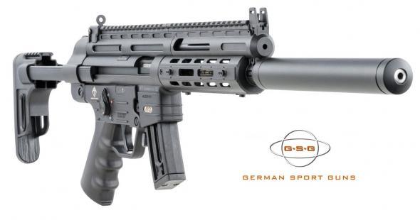 """GSG-16 Semi Auto Rimfire Rifle, 22 LR, 16.25"""" BBL W/Faux Suppressor, MLOK Rail, 22 rd 💲💲Cash $469.95💲💲"""