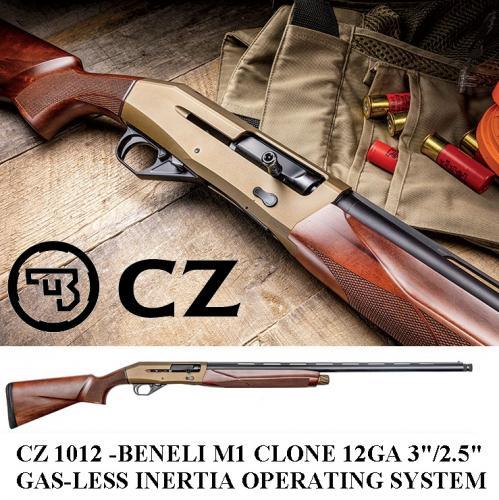 "CZ (BENELLI M1 CLONE)1012 Bronze 12 Gauge 28"" Barrel 4 Round Capacity Turkish Walnut Stock 💲💲Cash $699.95💲💲"