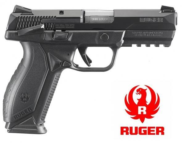 "Ruger American, Centerfire Pistol, 9MM, 4.2"" Barrel, Polymer Frame, Black Finish, 2-17Rd Magazines, Novak LoMount 3-Dot Sights, Ambidextrous Slide Stop and Manual Safety💲💲Cash 599.95💲💲"