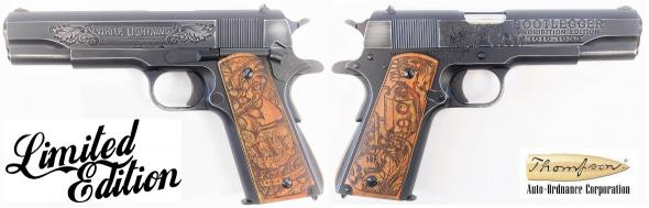 "Auto-Ordnance 1911 Bootlegger Pistol, 45 ACP, 5"" Bbl, Spl. Edition, Custom Engraved 1911, 7+1 Rnd, BRS Exclusive 💲💲Cash $1199.95💲💲"