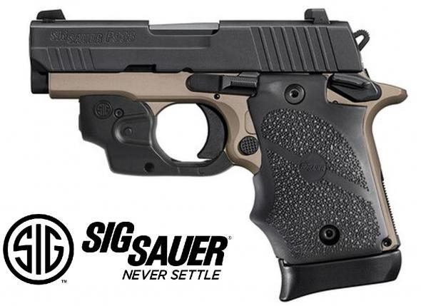 "Sig P938 Emperor Scorpion 9mm, 3.5"" Barrel, Siglite Lima Laser, Desert Bronze, 7rd 💲💲Cash $799.95💲💲"