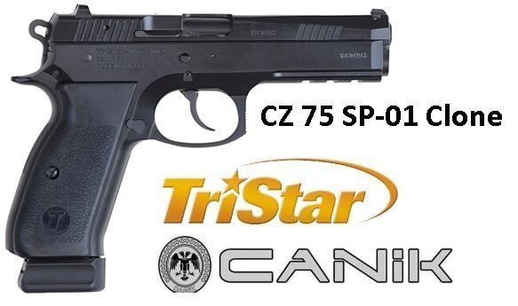 """TriStar P-120 (CZ 75 SP-01 Clone / Ex-Stingray)  9mm 4.7"""" 17+1 Blk Checkered Grips Blued 💲💲Cash $669.95💲💲"""