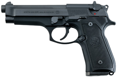 """Beretta USA JS92F300 92 FS Italy Single/Double 9mm Luger 4.9"""" 10+1 Black Synthetic Grip Black Bruniton"""