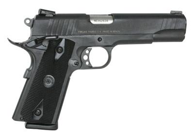 "Taurus 1911 Standard 9mm 5"" 9+1 Checkered Black Grip Blue Finish"
