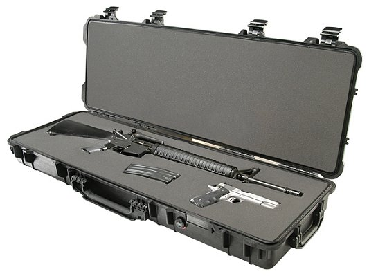 "Pelican 1720 Long Case 42x13x5"" w/Wheels Watertight/Dust & Crushproof Poly Black"