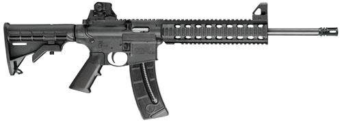 "Smith & Wesson M&P 15-22 A1 Style Comp SA 22 LR 16"" 25+1 6 Pt Col Stk Matte Black"