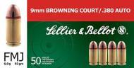 Sellier & Bellot 380ACP 92GR FMJ 50/1000