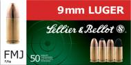 Sellier & Bellot Pistol 9MM 115Gr Jacketed Hollow Point 50 per box