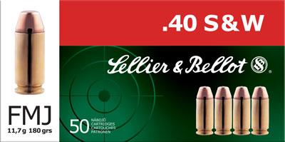Sellier & Bellot Pistol 40 S&W 180Gr Full Metal Jacket 50 1000 SB40B 💲💲Cash $14.29💲💲