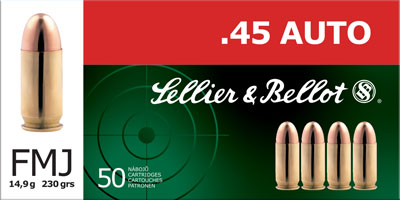 Sellier & Bellot Pistol 45 ACP 230Gr Full Metal Jacket Rounds Per Box 💲💲Cash $14.24💲💲