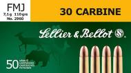 Sellier & Bellot .30 Carbine Full Metal Jacket 110 GR 50Box